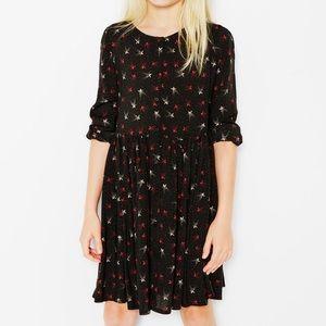 Zara girls star print dress
