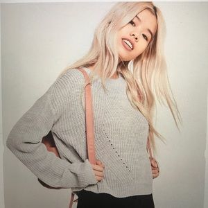 Missguided Gray Crew Neck Sweater