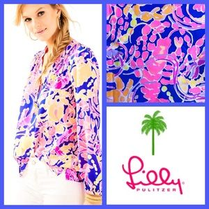 NWT Lilly Pulitzer Elsa Top in Catch and Release