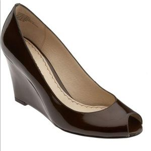 Nordstrom BP Uptown Brown Patent Leather Wedges