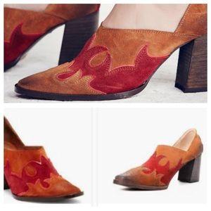 Free People Shoes - Free People Brown Alamo Western Mule Pump 7.5