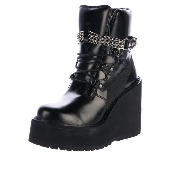b474297c3cc Puma Rihanna Sneaker Boots Creeper Wedge festival