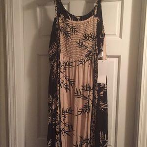 Mid calf length dress - spaghetti type straps