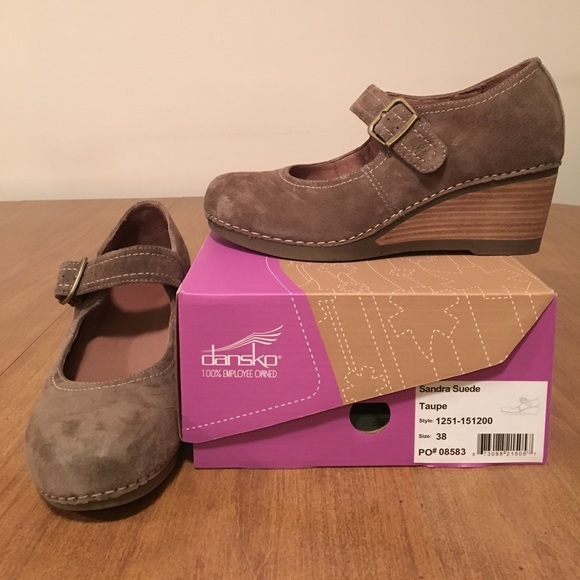 96f3a9617e46 Dansko Shoes - Dansko Sandra Taupe Suede Size 38 EUC Lowest Price