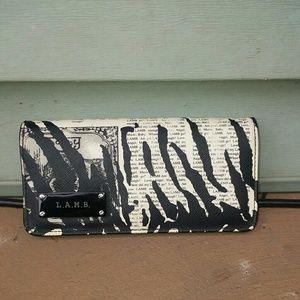 L.A.M.B by Gwen Stefani Black & White Wallet