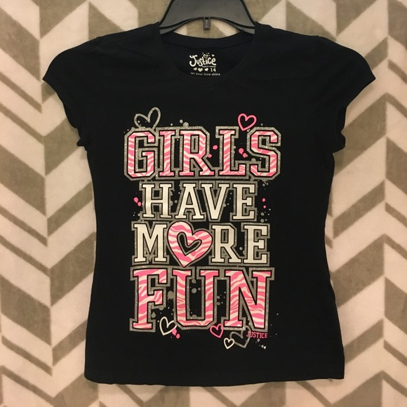 Justice Other - Girls Have More Fun Justice T-shirt