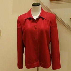 Jackets & Blazers - Red Wool Blend Jacket