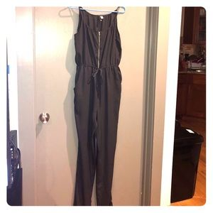 Loose-fit Jumpsuit in charcoal grey