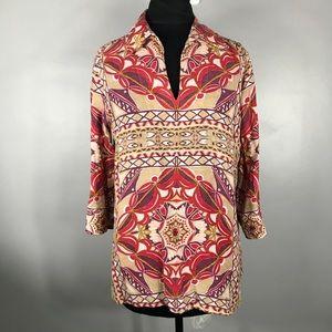 Talbots silk top size 10petites