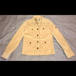 J. Crew Suede/Leather Jacket Small Beige