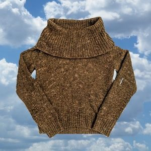 Wool Blend Cowl Neck Sweater