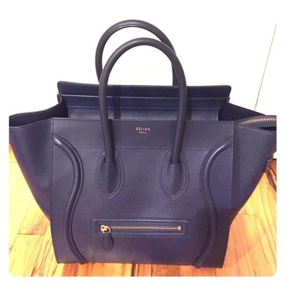 b758073a6d79 1 DAY SALE 💥 Céline Paris Mini Luggage Tote - Ink