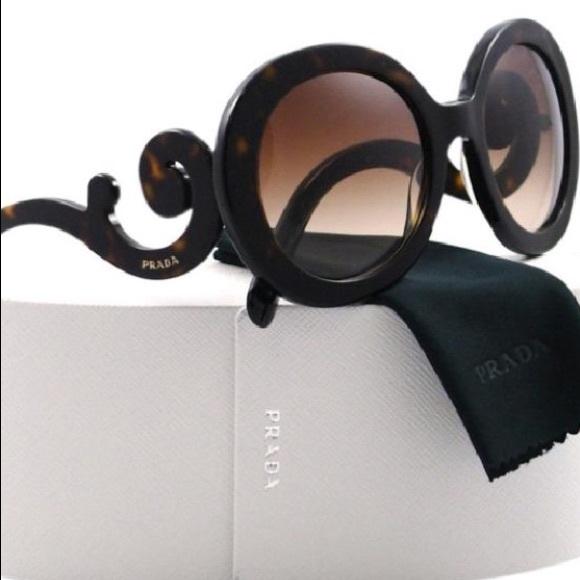 c8ea35e9eb Prada Tortoise Brown Baroque Sunglasses  lowered! M 59dac21841b4e08207014162