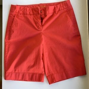 J.Crew coral colored Bermuda shorts