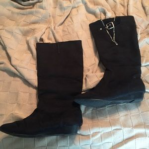 Black Suede Chinese Laundry Boots