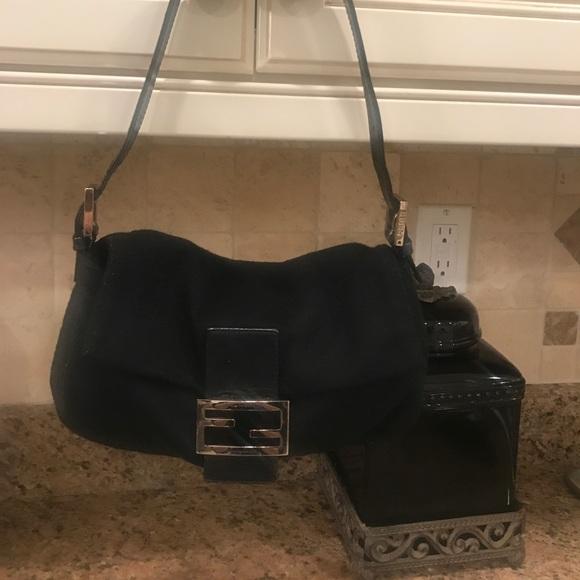38dc7cc98516 Fendi Handbags - Fendi black banquette shoulder bag