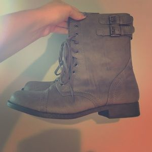 Rampage grey/brown combat boots!