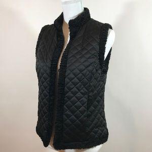 Ralph Lauren Black Quilted Vest Small