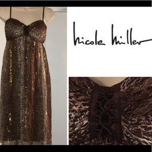 Nicole Miller- NWOT! -Animal Print Baby Doll Dress