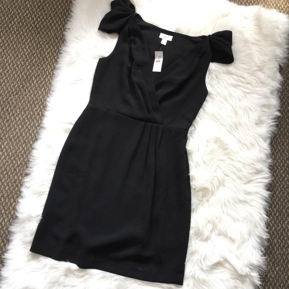 f67a3ea0451d8 NWT Ann Taylor Loft Black Wrap Dress Office 4