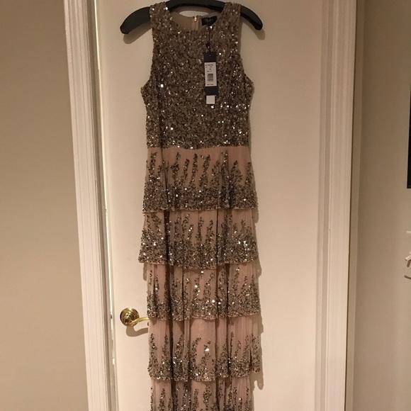 Parker Dresses | Size 12 Black Sequintulle Evening Gown | Poshmark