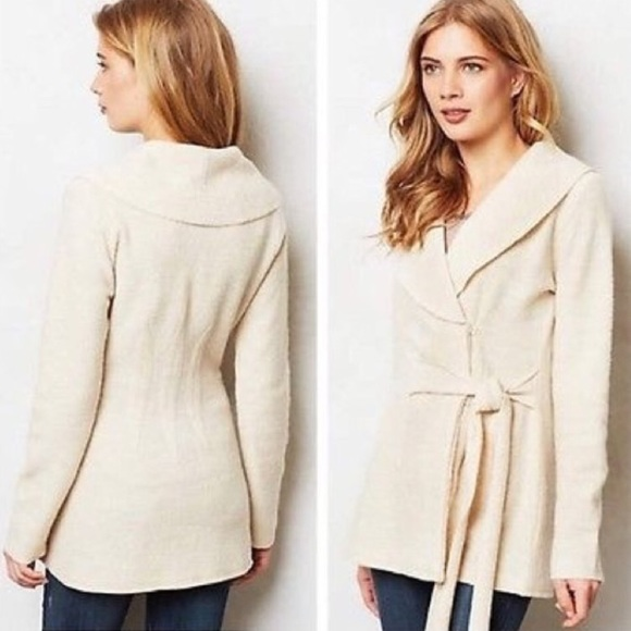 33da8aed57 Anthropologie Sweaters - Anthropologie Rosie Neira Boiled Wool Wrap Sweater