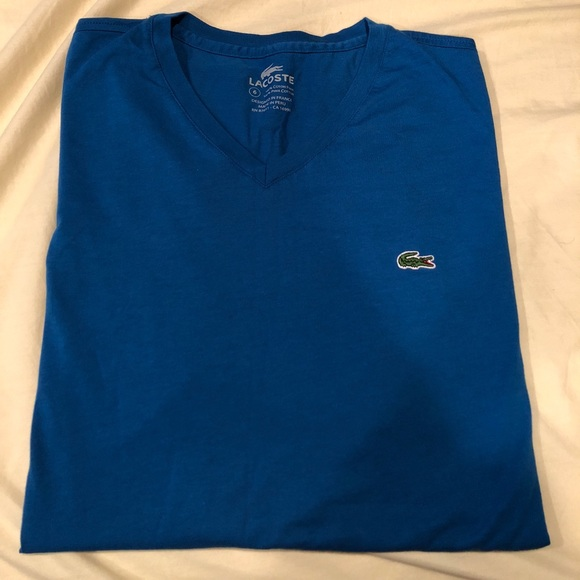 new style & luxury wholesale online low cost Men's Lacoste V neck T-shirt new w/o tag