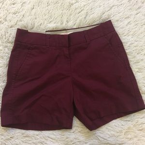 J. crew broken in chino 100% maroon wine shorts 00