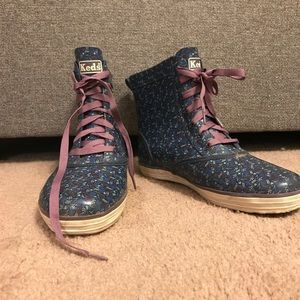 Keds snow/rain boots jean fuzz inside
