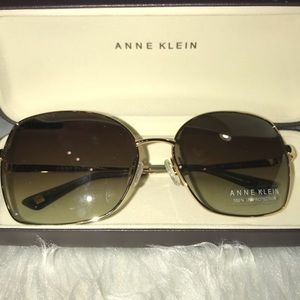 🕶 Anne Klein AK7032 717 Gold Women Sunglasses