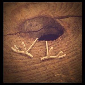 MooseJewel Jewelry - 🌲MOOSEJEWEL🌲925 Silver Reindeer Antler Earrings