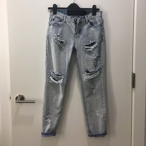One teaspoon distressed boyfriend jeans