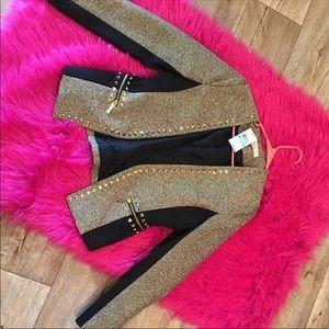Today Only sale price Black & Gold Studded Blazer