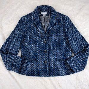 Nine West Tweed Blazer Blue and gray