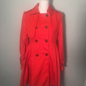 Cutie red classic trench coat Modcloth