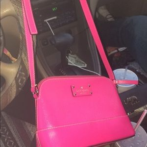Kate spade cross body hot pink