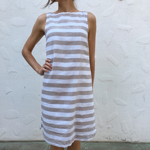 3a8163b483 (Beach Lunch Lounge) Striped Sleeveless Dress. M 59dadbe89c6fcf82f201e21e