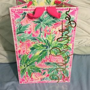 Lilly Pulitzer elephant shopping bag