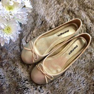 BONGO Shoes - Bongo Gold Ballet Flats size 7.5