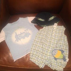 3 PC 6M Baby Clothing Lot/Flapdoodles & Little Me