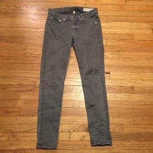 Rag & Bone Gray legging skinny leg jeans - 30