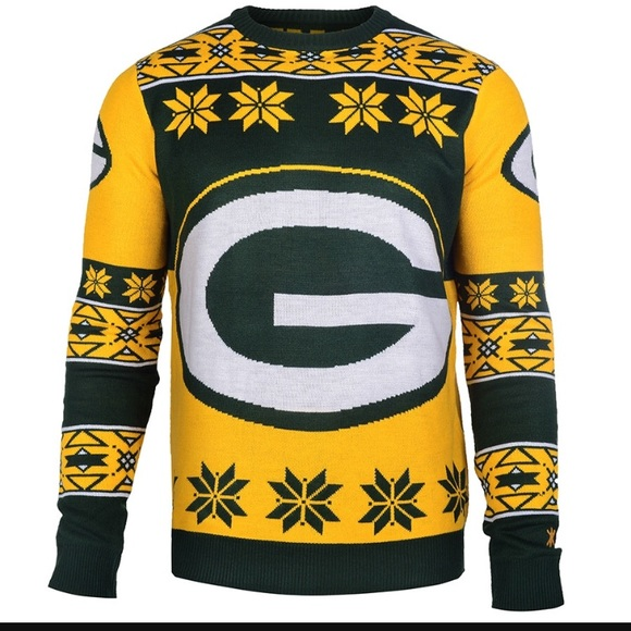 Nfl Sweaters Nwt Green Bay Packers Ugly Christmas Sweater Poshmark