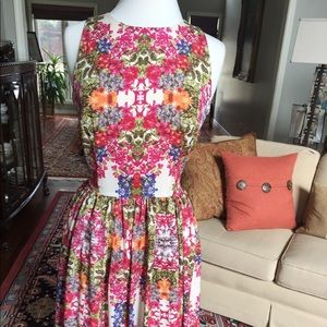 Short floral party dress