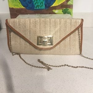 Handbags - Clutch w/ removable gold chain
