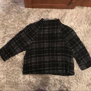 Black zara tweed top