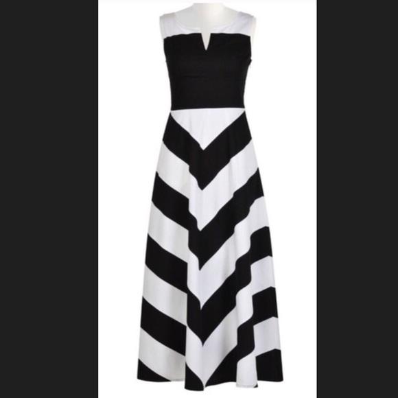 2dd8cae728ae eshakti Dresses & Skirts - New EshaktI Chevron Fit & Flare Dress 18W