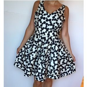 Taylor black and white dress