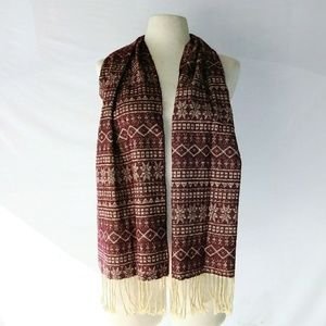 WINTER Wine & Snowflakes Scarf