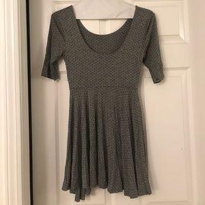 Babydoll 90s Gray Dress - LAST CHANCE