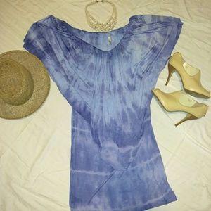 Blue tie die dress